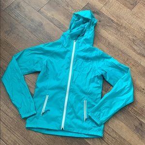 North Face Teal Raincoat